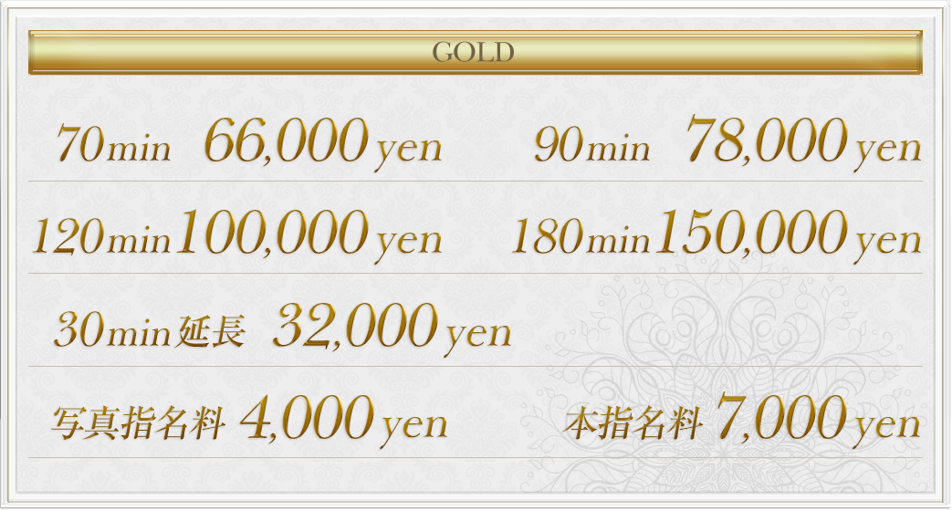 goldの料金