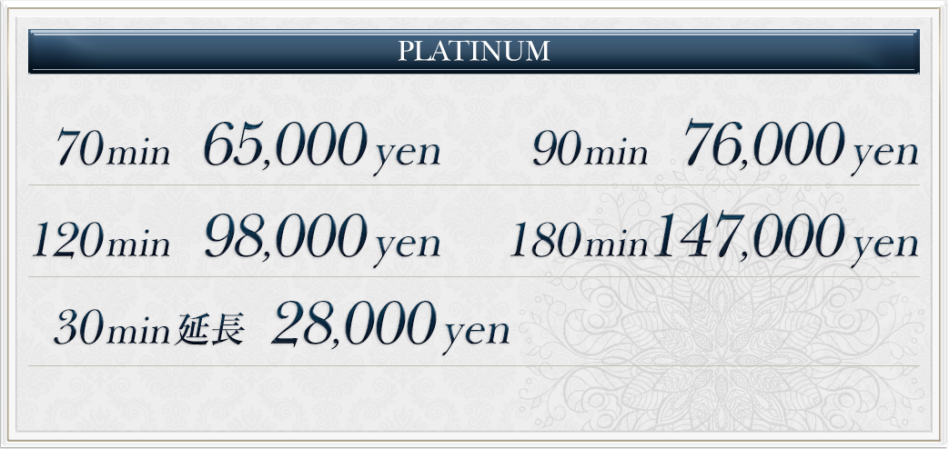 platinumの料金
