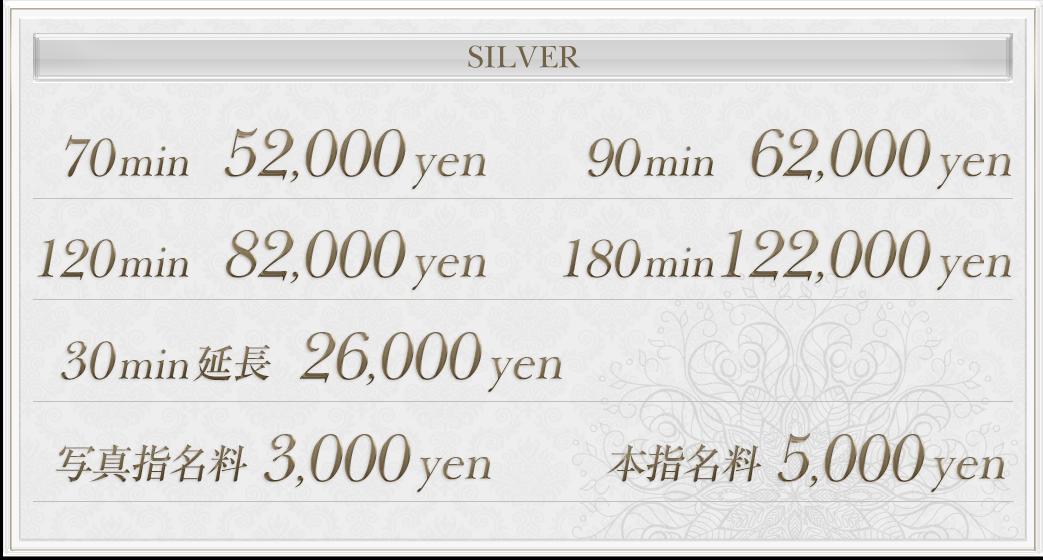 silverの料金